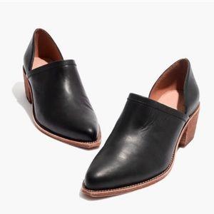 Madewell Brady Lowcut Bootie Block Heel Black 8.5